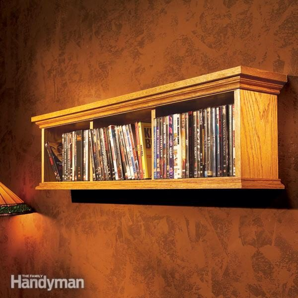 How To Build A Wall Cabinet For Dvds The Family Handyman