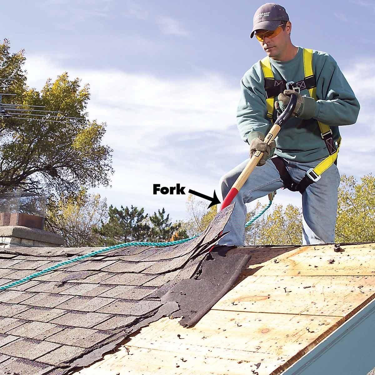 roofing tear off tools, tear off shovel, shed shingles fork