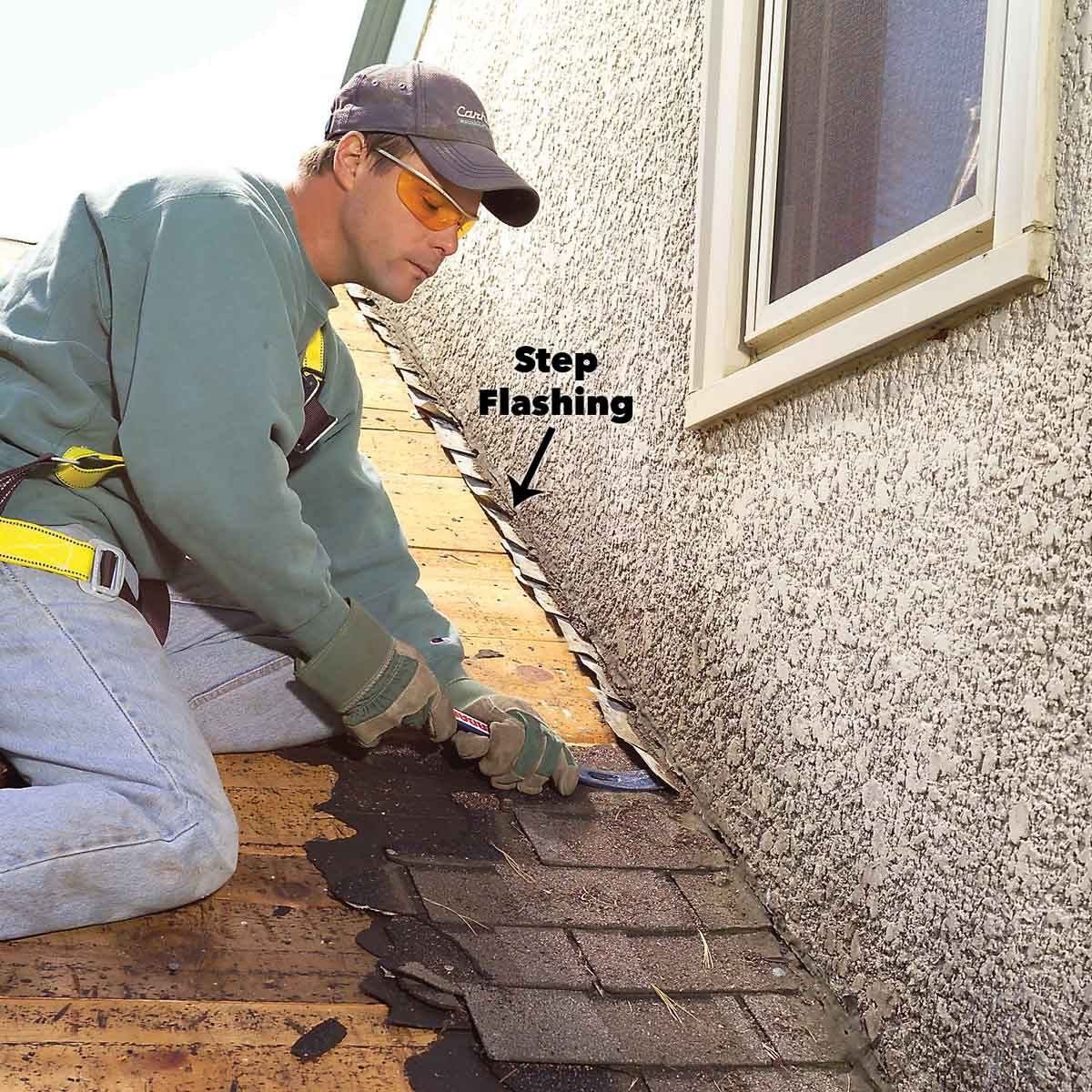 roof step flashing