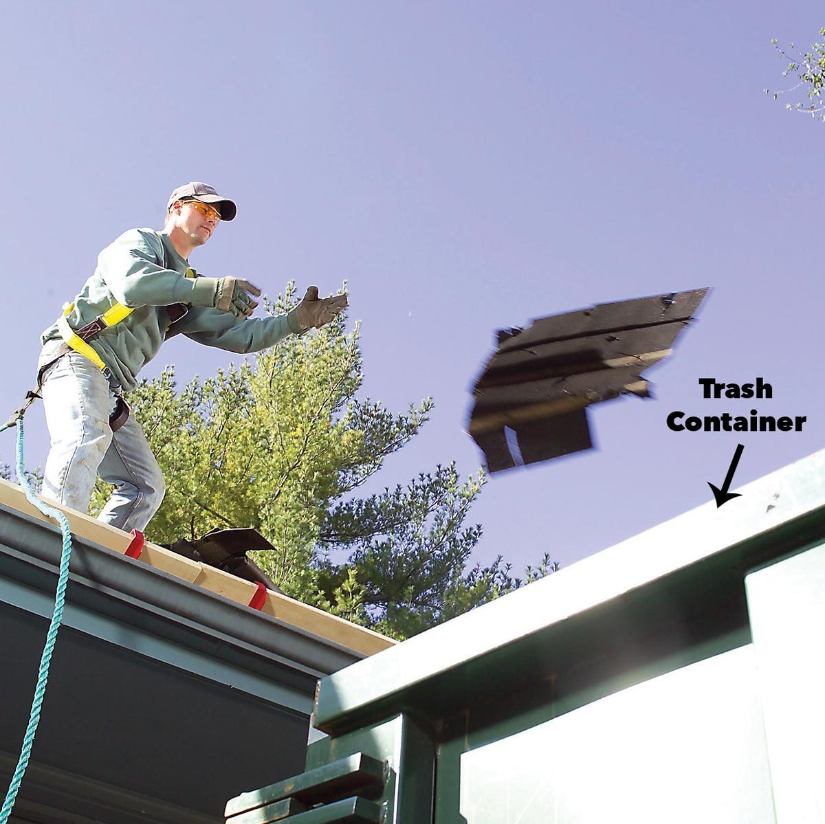 toss roof singles directly into trash