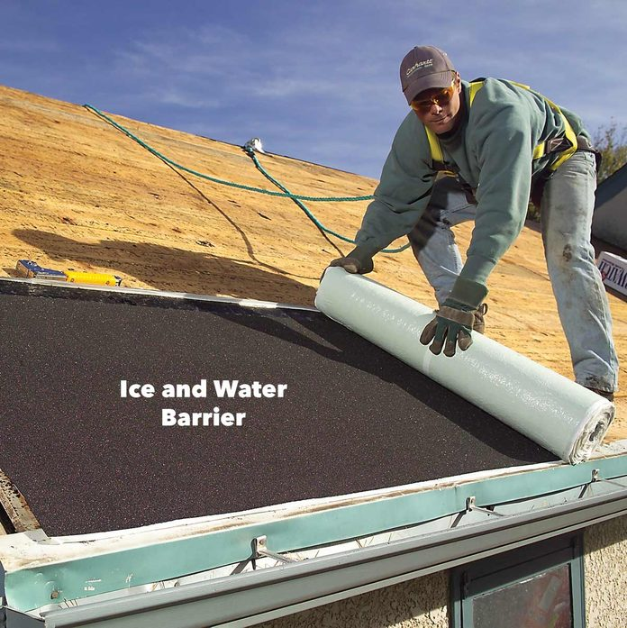 cover roof with ice and water barrier