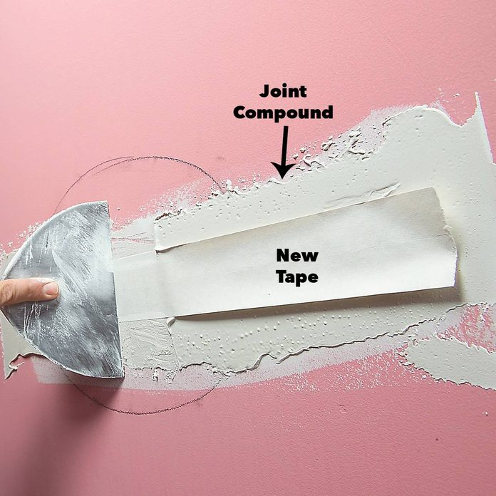 apply tape over joint compound
