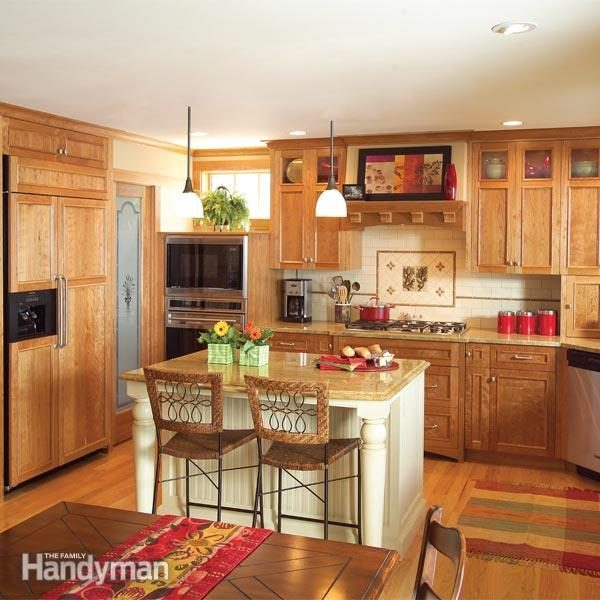 How to expand a small kitchen by adding floor space and using existing space more efficiently
