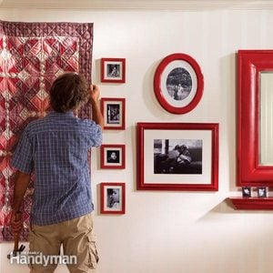 Hang Artwork and Wall-hangings Straight and Level for a Gallery Wall