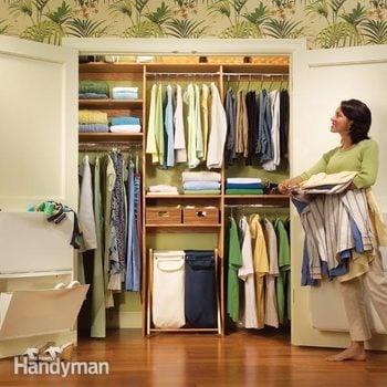 Closet Organizing A Simple Closet Rod And Shelf System Diy
