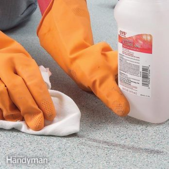 Remove Tough Vinyl Flooring Stains