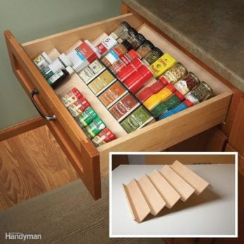 Two Tier Drawer Spice Rack The Family Handyman