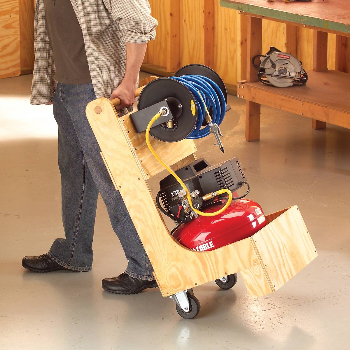 Air Compressor Cart The Family Handyman