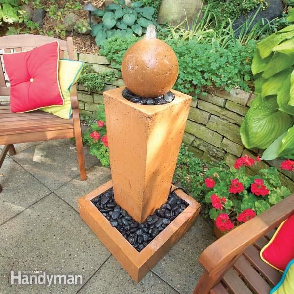 How To Cast Concrete Fountains The Family Handyman