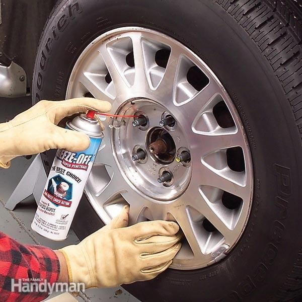 Freeing Up a Rusted Wheel | Family Handyman