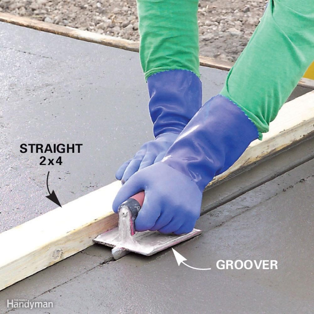 How many control joints will you cut into the concrete?