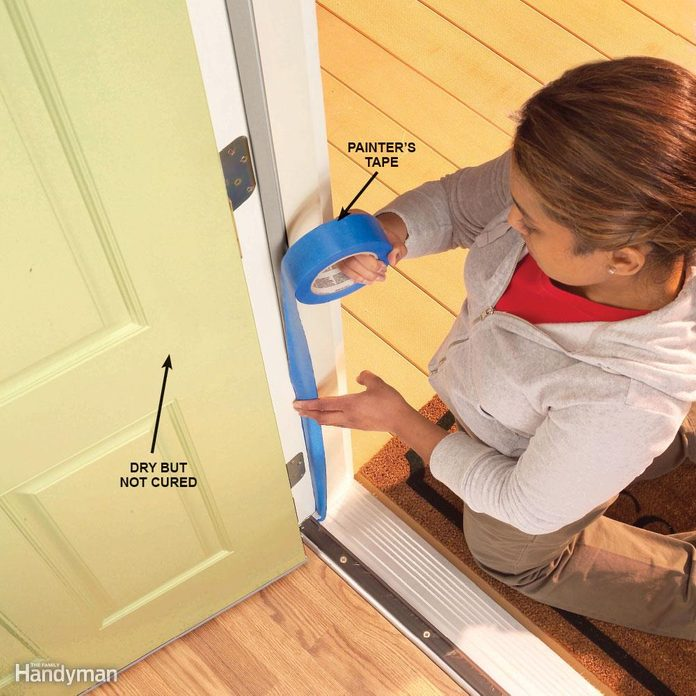 Protect freshly painted doors from sticking