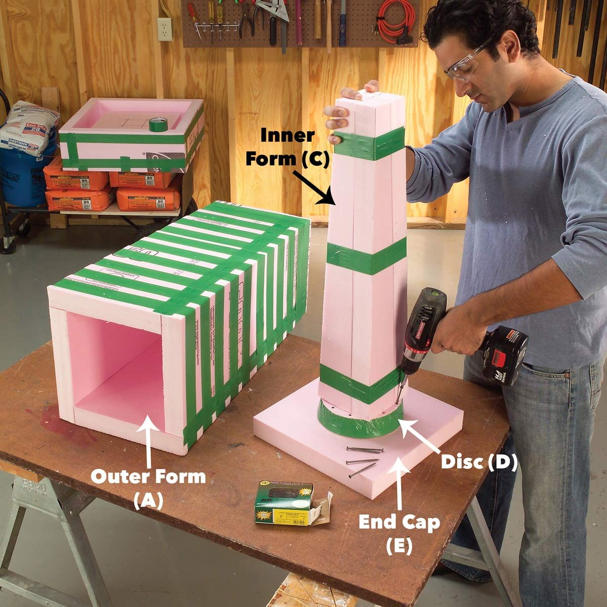 assemble the column