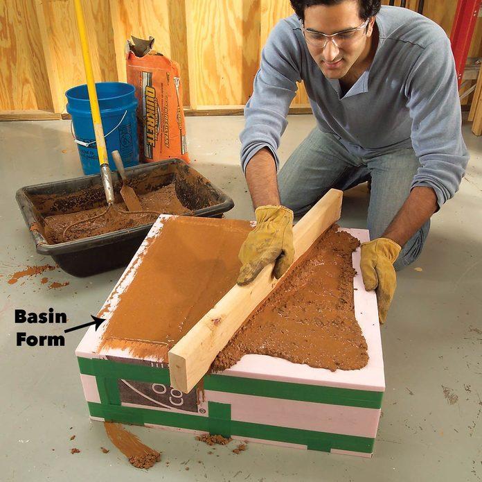 level concrete basin