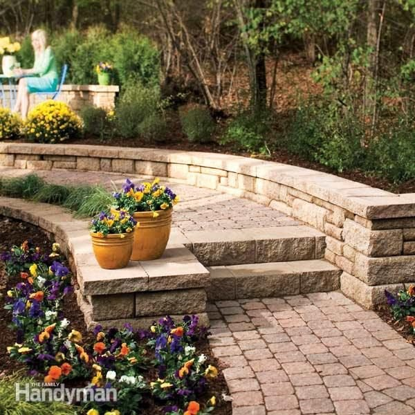 How To Build Stone Steps And Path The Family Handyman