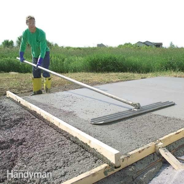 Form and Pour a Concrete Slab