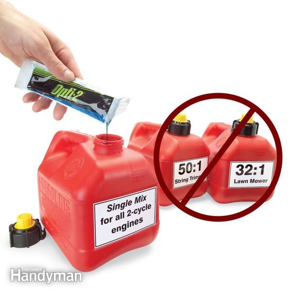 FH07NOV_OILMIX_01-2. Two-cycle engines like lawnmowers, string trimmers and boat motors often require different oil/gas mixtures ...