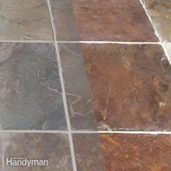 Grouting Tile Floors Porous And Uneven Tiles The Family Handyman - Rough tile floor cleaner
