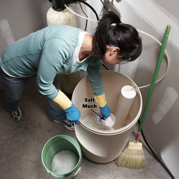 salt mush water softener
