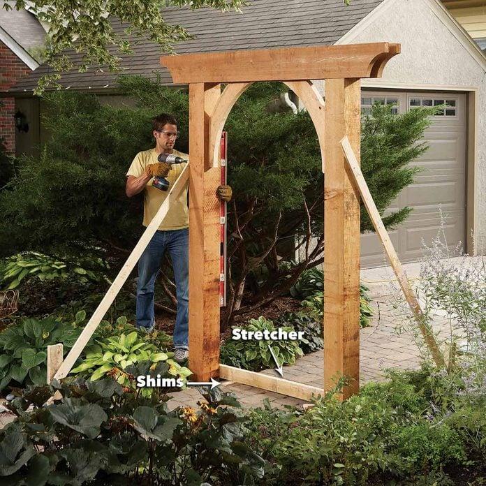 Set up the garden arch