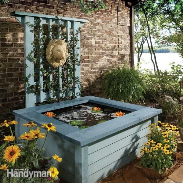 Outdoor pond ideas pond in a box family handyman for Outside pond ideas
