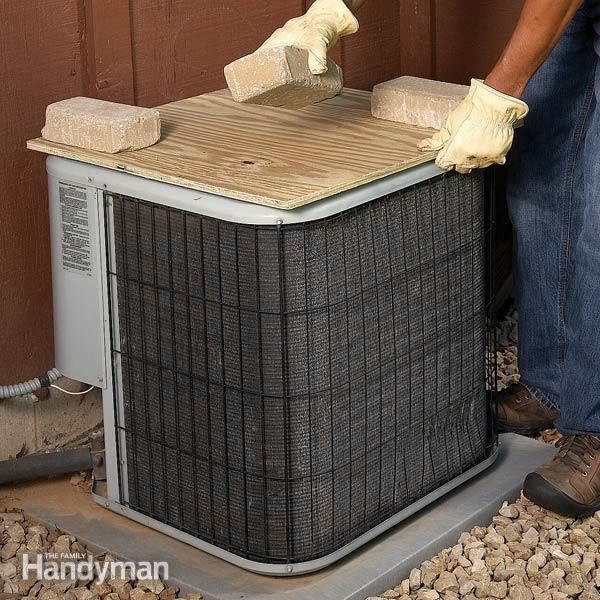 Covering Your Air Conditioner Condenser Unit The Family Handyman