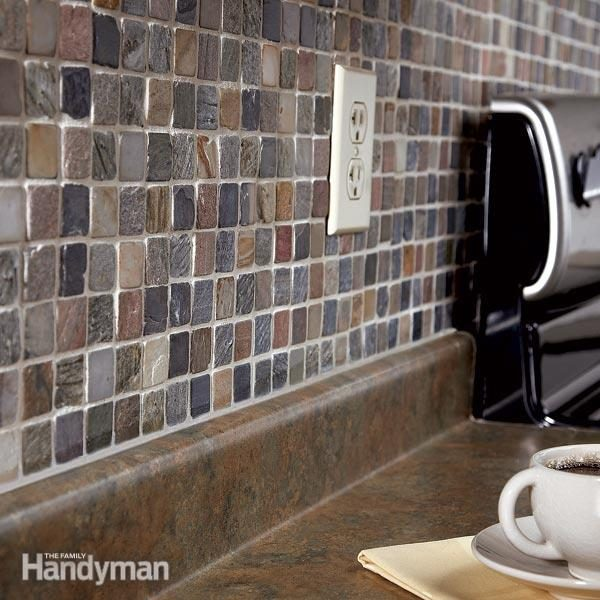 How to tile a diy backsplash the family handyman - How to install ceramic tile on wall ...