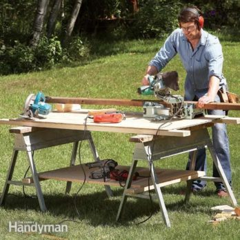 Proper hacksaw blade installation family handyman savvy sawhorse table tips greentooth Choice Image