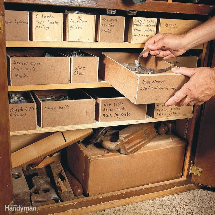 Shop-made parts boxes