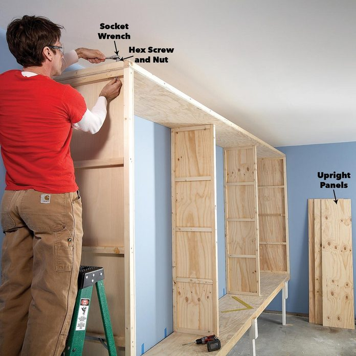 Install top of cabinets