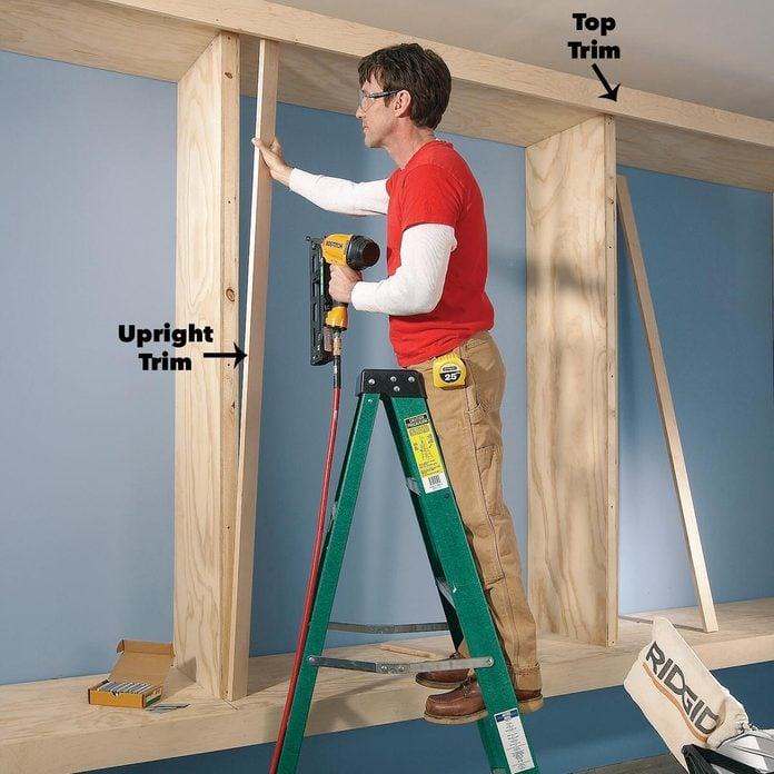 trim on garage cabinets