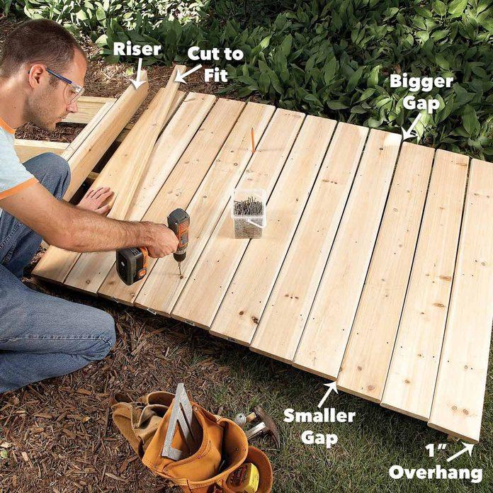 add the decking boardwalk