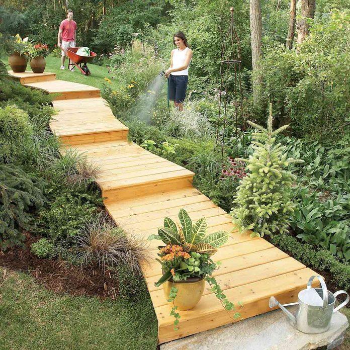wooden boardwalk