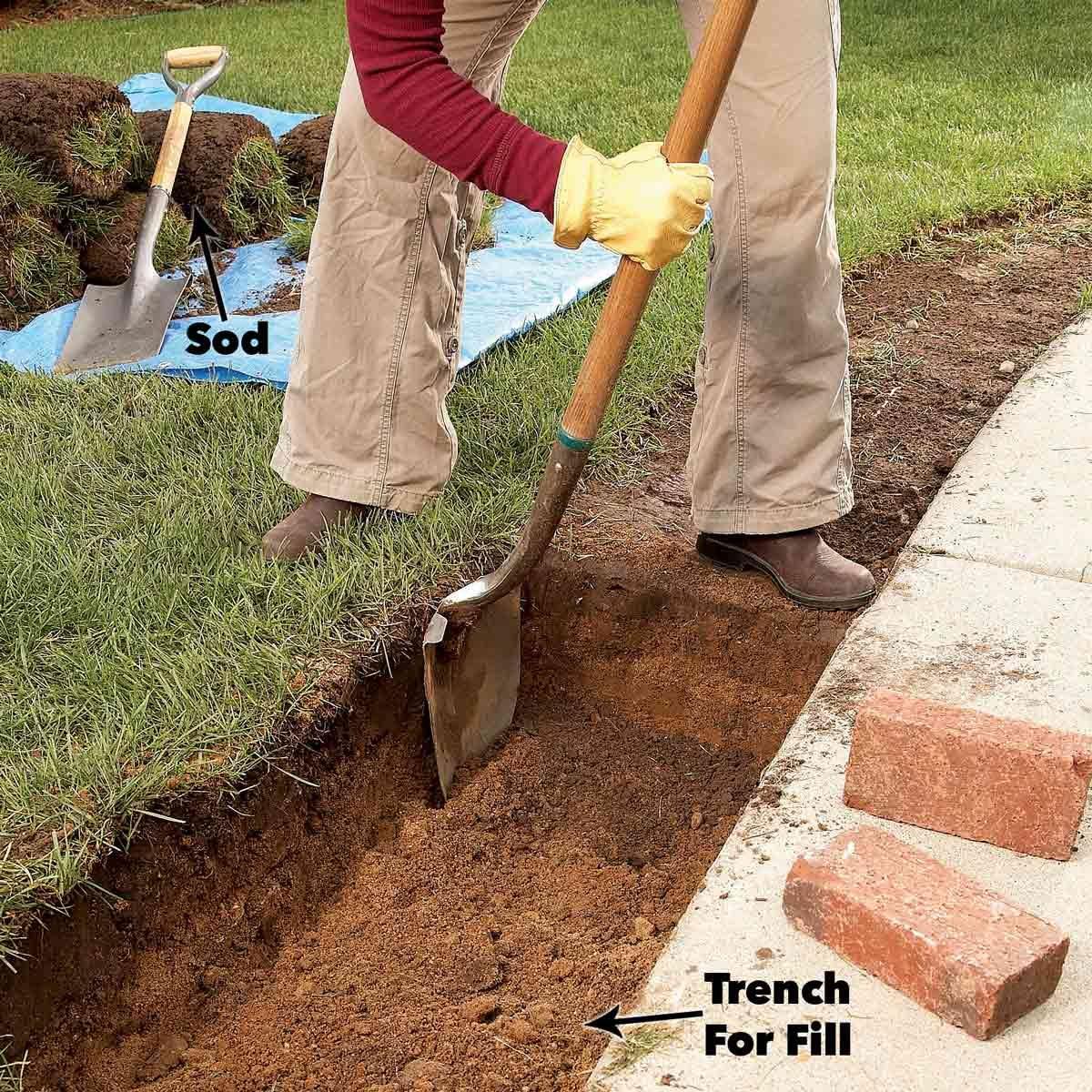 trench brick edging