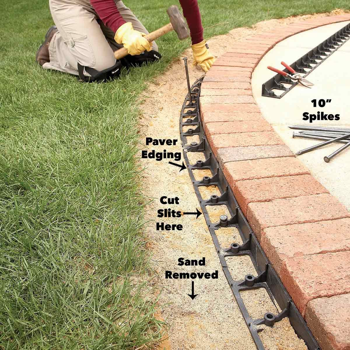 Use Brick Borders for Path Edging | Family Handyman