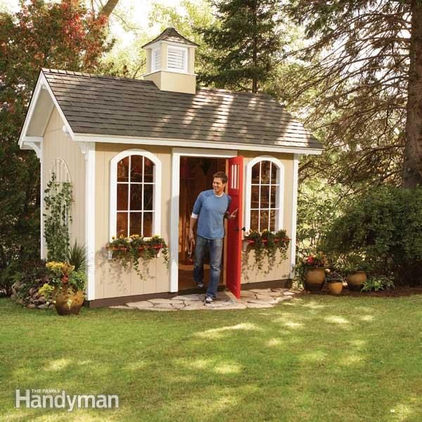 How to Build a Shed on the Cheap | The Family Handyman Playhouse X With Loft Plans on barn style sheds with loft, yard sheds with loft, 16x20 cabin plan with loft, 14x16 cabin with a loft, one room cabin with loft, 12x12 cabin with sleeping loft,