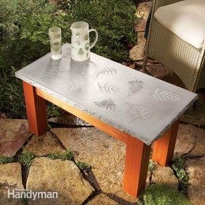 How to Build a Table with a Concrete Top