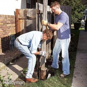 How to Remove a Rotted Fence Post and Set a New One