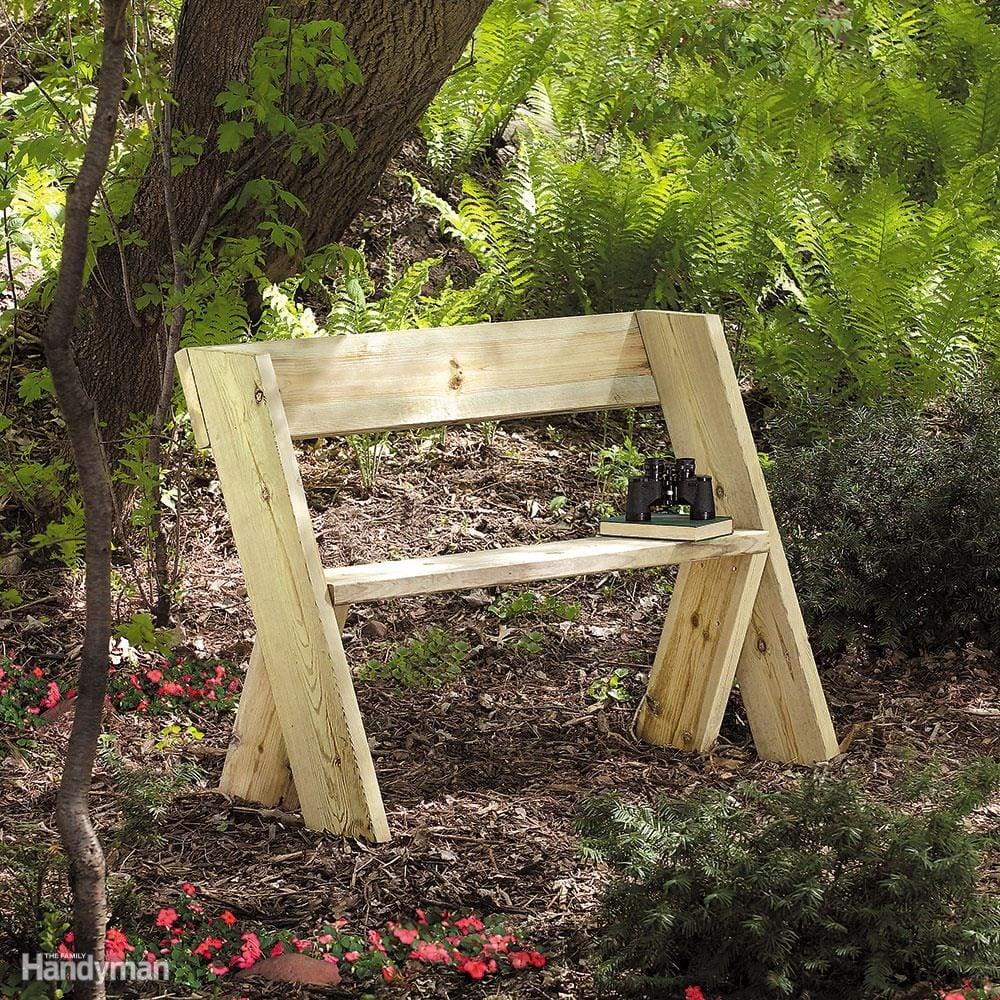 Садовые скамейки своими руками из подручных материалов фото