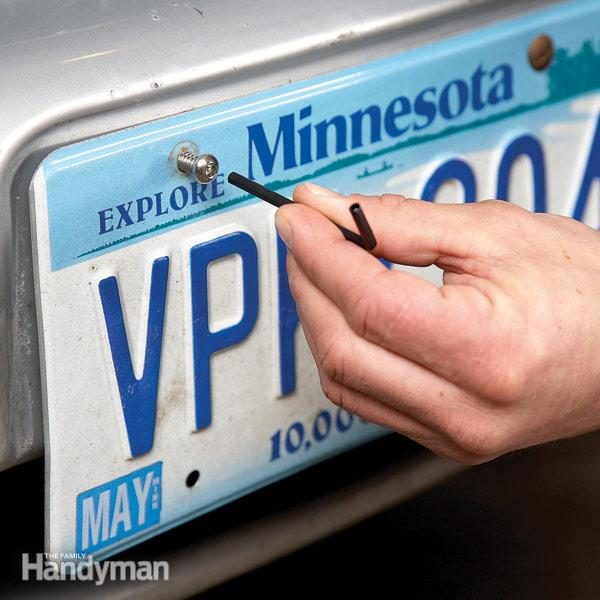 Prevent License Plate Theft The Family Handyman