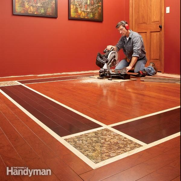 Diy Hardwood Floors Lay A Contrasting Border The Family Handyman