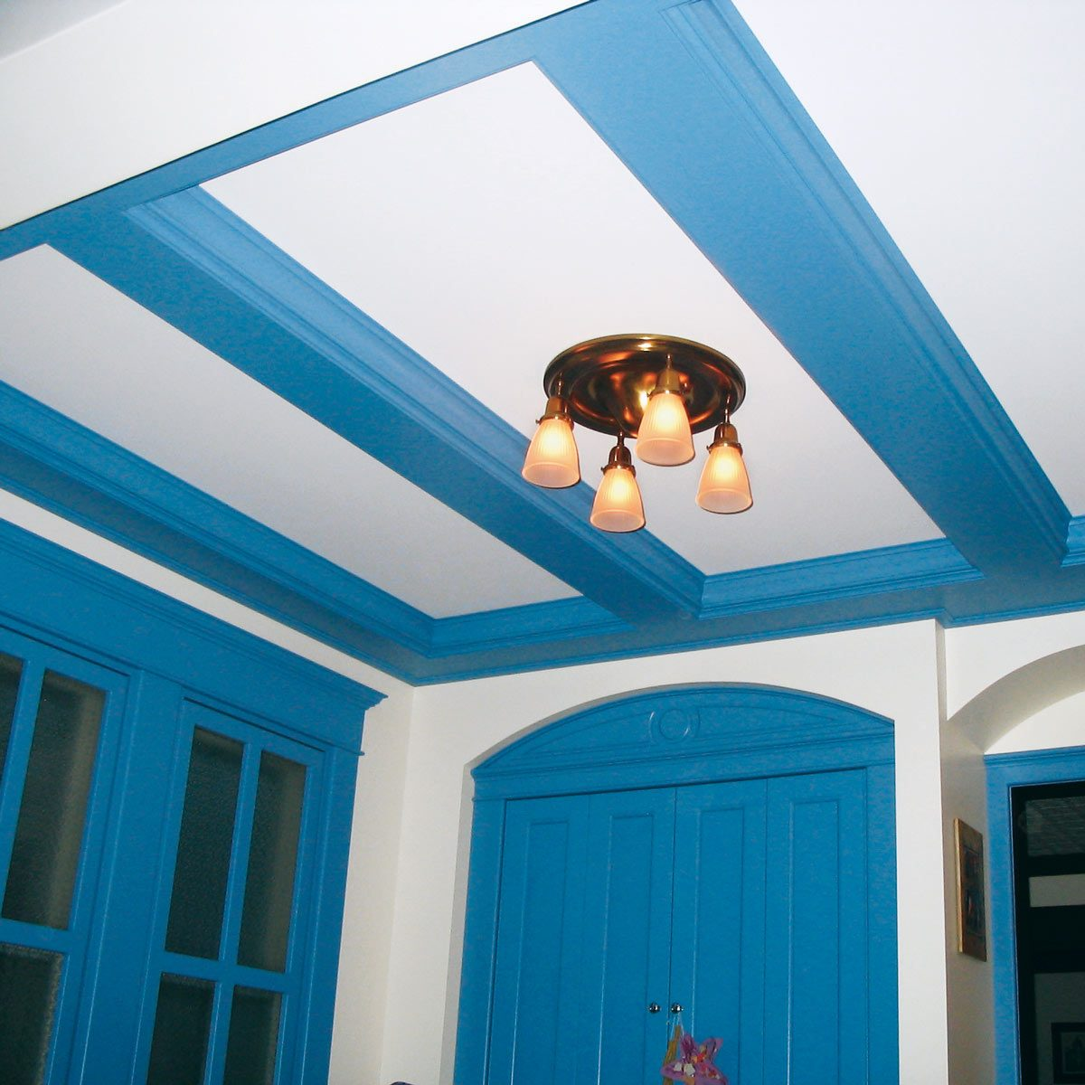 ceiling panel diy success story blue