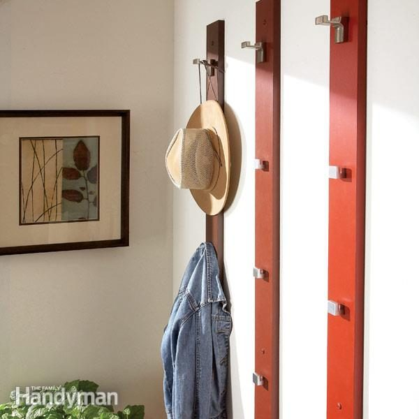 Create A Sleek And Simple Coat Rack And Hat Rack The