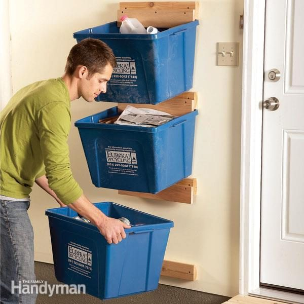 garage storage bins garage organization create recycle bin hangers the 15732