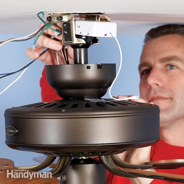 How to install a ceiling fan remote family handyman upgrade your fan with a ceiling fan remote mozeypictures Image collections