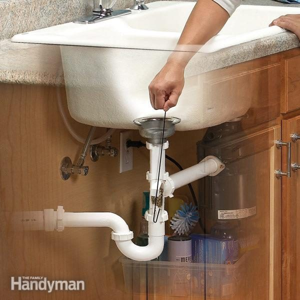 Unclog a bathroom sink without chemicals family handyman unclog a kitchen sink solutioingenieria Gallery