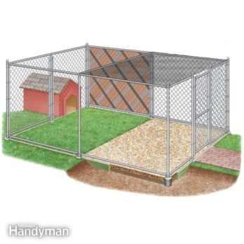 How to Build Chain Link Outdoor Dog Kennels