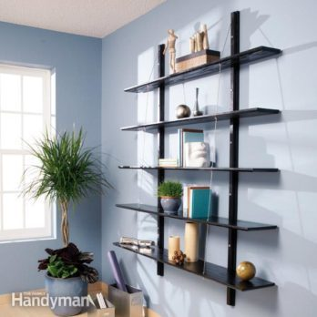 How to Build Suspended Bookshelves