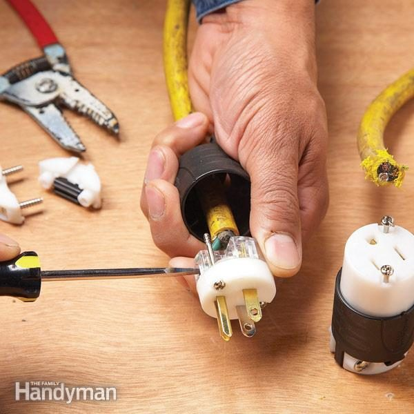 how to repair a cut extension cord family handyman rh familyhandyman com wiring a new plug socket wiring a new plug socket