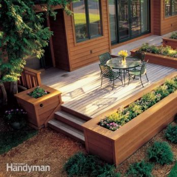 How To Build A Wood And Stone Deck The Family Handyman